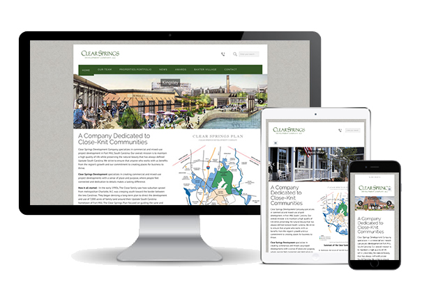 Clear Springs Development website