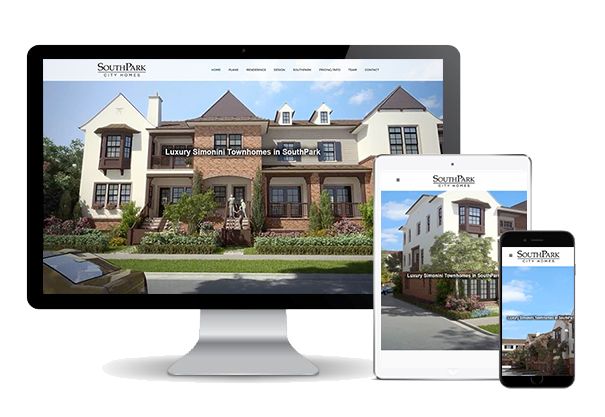 SouthPark City Homes website