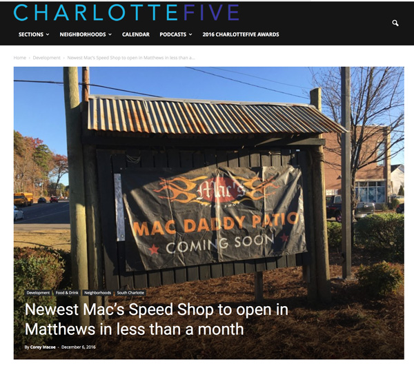 Mac's Speed Shop in Charlotte Five