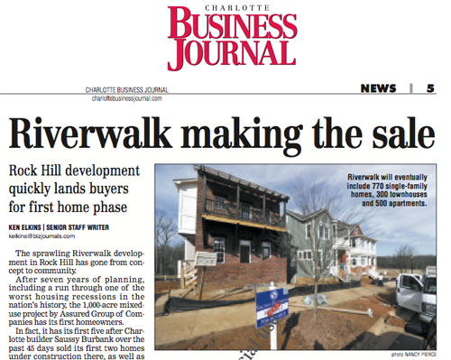 Riverwalk in Charlotte Business Journal
